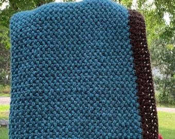Crochet puff stitch baby blanket