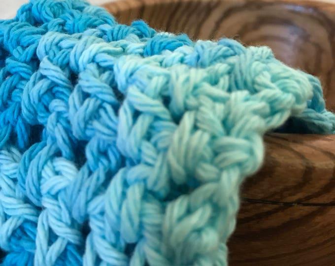 100% cotton crochet washcloth-small