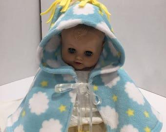 Blue Cloud Infant Capelet