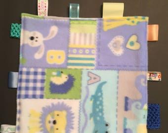 Animal Alphabet Mini Comfort Blanket
