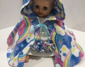 Rainbow infant Capelet