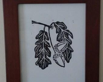 Acorns print