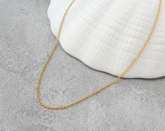 14k Gold filled necklace, simple delicate necklace without pendant, dainty gold necklace for layering, gold necklace for every day, minimalist