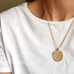 phaistos disc necklace minimalsit necklace gold layered necklace dainty necklace gold necklace layering necklace vergina star necklace