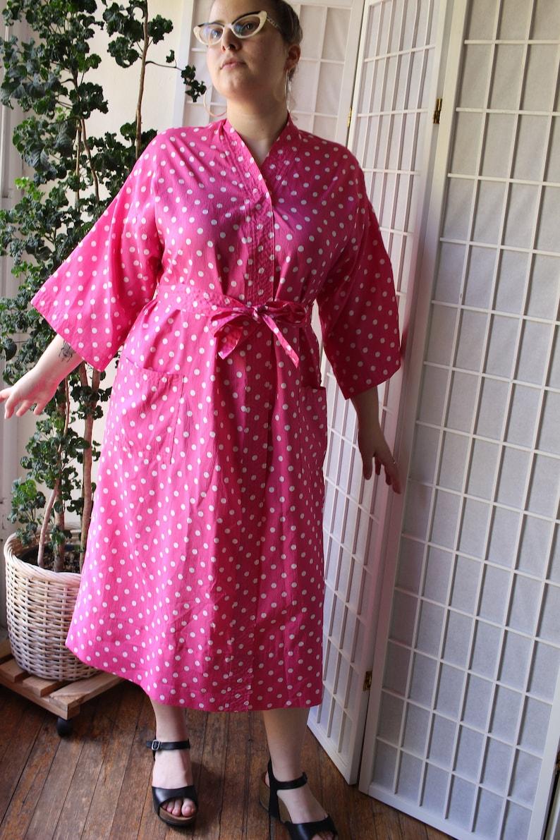 Hot Pink Polka Dot Robe