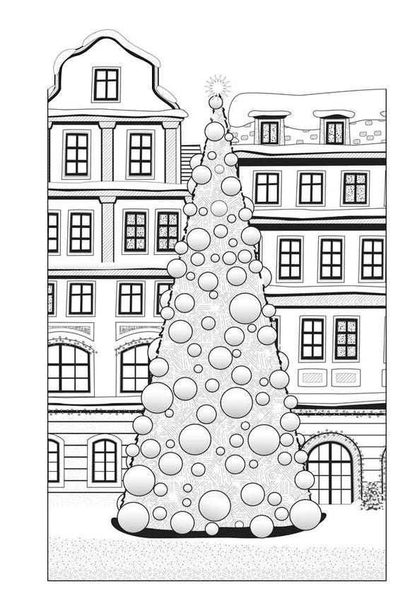 Kerst Kleurplaten Merry Christmas.Kerstmis Kleurboek Voor Volwassenen Kerst Kleurplaten Kerst Boek Volwassen Kleurboek Kleurende Pagina S Geinspireerd Coloring Boek