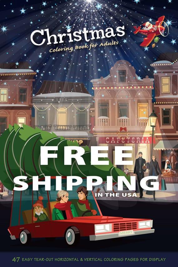 Kerstmis Kleurboek Voor Volwassenen Kerst Kleurplaten Kerst Etsy