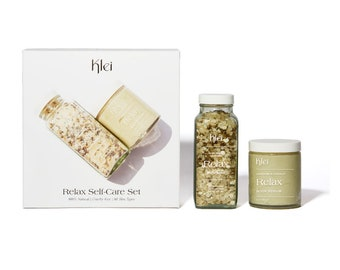Klei Relax Self-Care Set   Bath Soak & Body Scrub Set