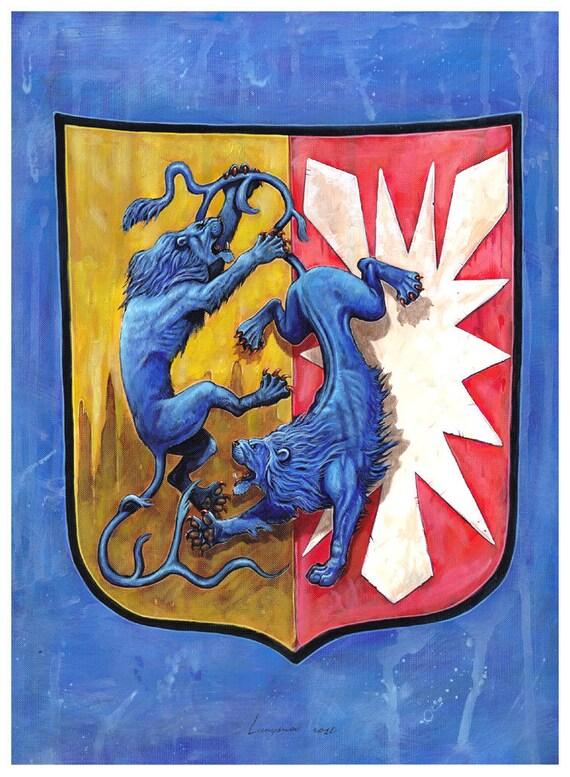 Deutsches Wappen Schleswig Holstein Heraldische Illustration Etsy