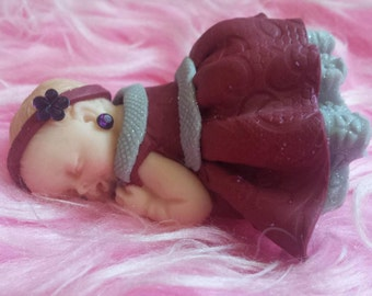 baby girl polymer clay
