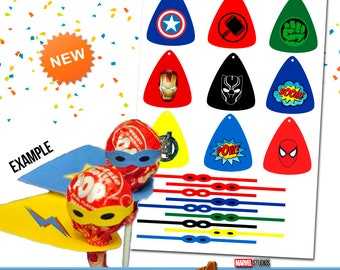 Printable / Lollipop dressed Avengers / Infinity War / Avengers Lollipop / Lollipop dressed superhero / Fun party