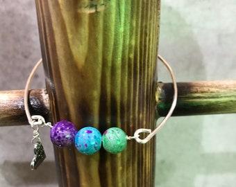 Multi color beaded bangle