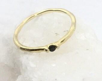 BLACK DROP ring