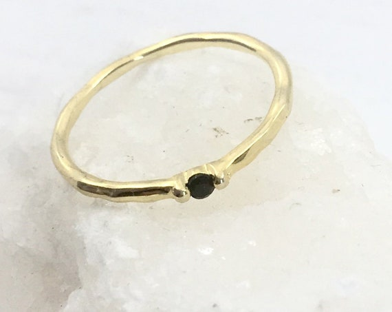 BLACK DROP ring