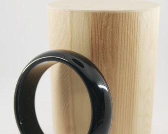 NUX Bracelet - Cuff - Onyx gemstone - Black cuff