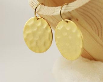 FULL MOON Earrings - Gold filled earrings - Gold plated