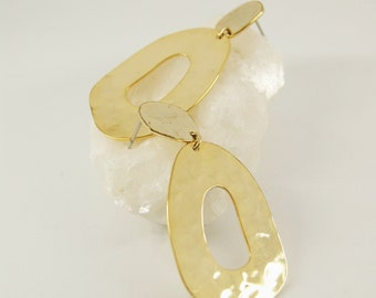 DORA Earrings num 3 - Statement jewelry - Gold filled - Geometric