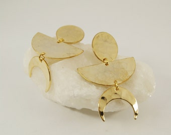 DORA Earrings num 6 - Statement jewelry - Gold filled - Geometric