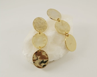 DORA Earrings num 11 - Statement jewelry - Gold filled - Geometric