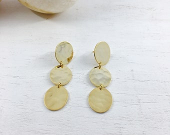 DORA Earrings num 11  · Statement Earrings · Gold Earrings · Long Earrings