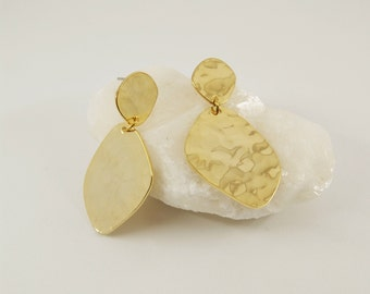 DORA Earrings num 5 - Statement jewelry - Gold filled - Geometric