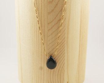 BLACK DROP Necklace
