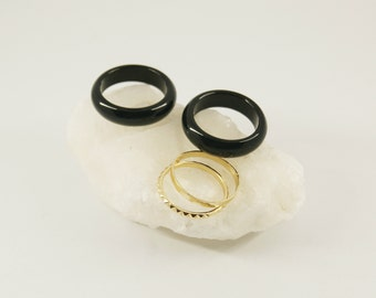 NUX Rings - Onyx gemstone - Gold filled