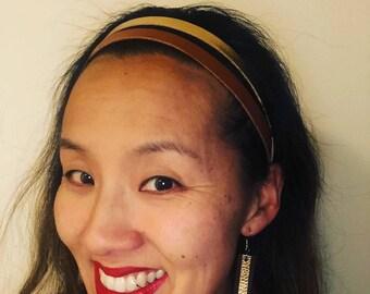 Boho Headband for Women, Boho Leather Headband, Leather Headband for Women, Boho Headband, Headband, Gift for Her