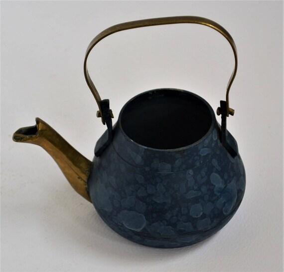 Dollhouse Miniature Teapot Shaped Wood Sign facing left