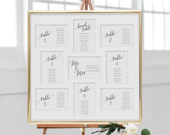 Beautiful Wedding Seating Chart, Wedding Seating Chart Template, Wedding Seating  Cards, Printable Seating Cards, Printable Seating Chart Wedding