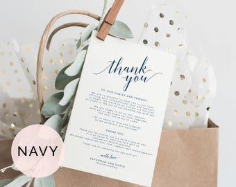 Wedding Thank You Cards Template Printable Thank You Card