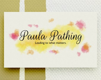 Custom Business Cards - Double sided business card designing service - Water Color paint theme