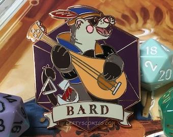 Ferret Bard | Dungeons & Plushies Hard Enamel Pins