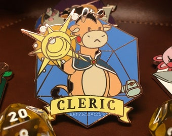 Giraffe Cleric | Dungeons & Plushies Hard Enamel Pins