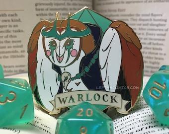 Barn Owl Warlock | Dungeons & Plushies Hard Enamel Pins