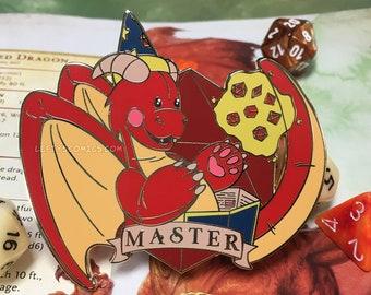 Dragon Master (DM) | Dungeons & Plushies Hard Enamel Pins