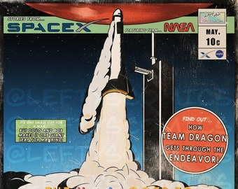 """Comic Cover Art Print - Stories from SpaceX 