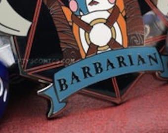 Hamster Barbarian | Dungeons & Plushies Hard Enamel Pins
