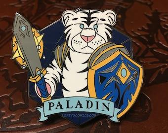 White Tiger Paladin | Dungeons & Plushies Hard Enamel Pins