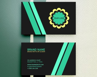 Custom Business Cards - Double sided business card designing service - Clean and Elegant theme