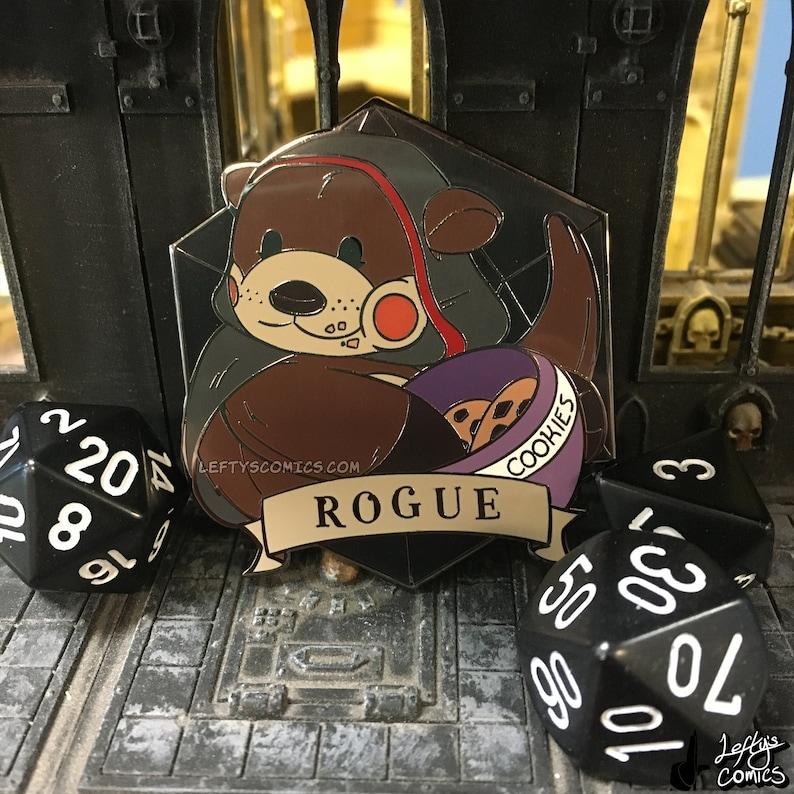 Otter Rogue  Dungeons & Plushies Hard Enamel Pins image 1