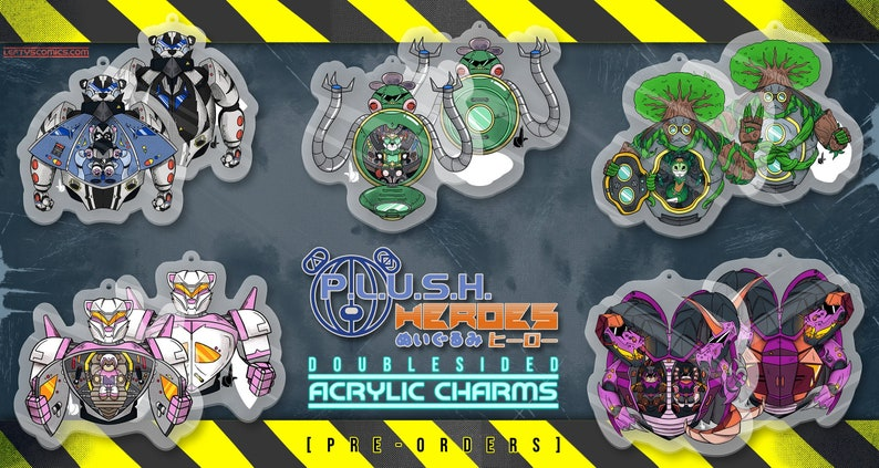 MECH  P. L. U. S. H.  Heroes Acrylic Charms  PREORDER image 1