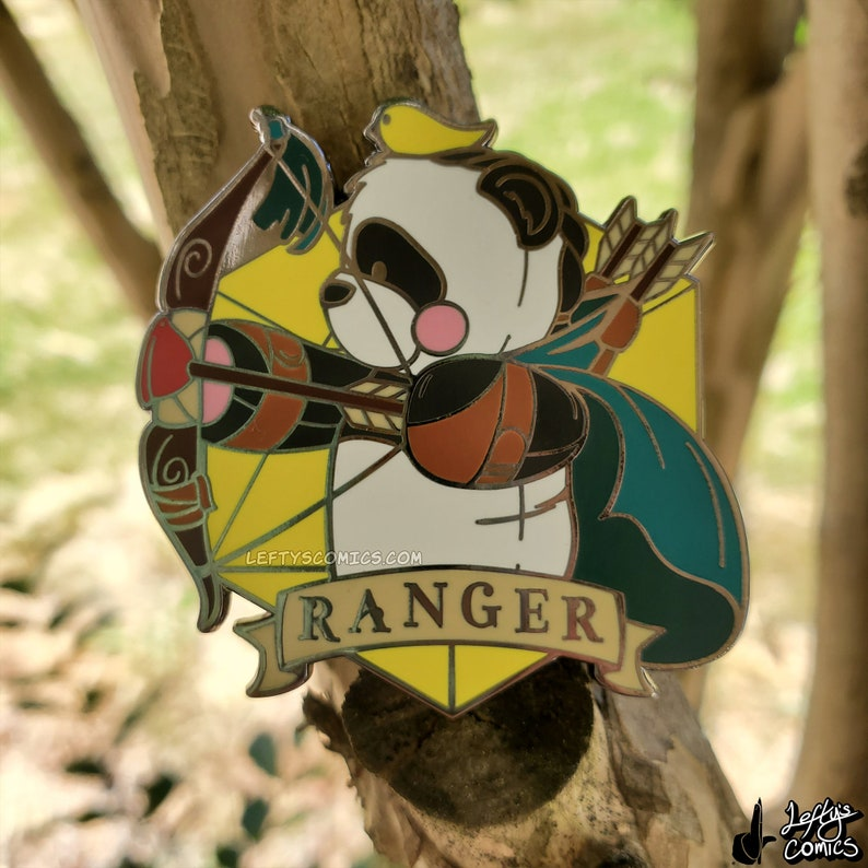 Panda Ranger  Dungeons & Plushies Hard Enamel Pins image 1