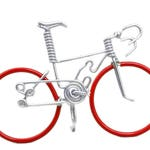 Miniature Road Bike, Bicycles and Cycling, Cake Topper, Bicycle Cake Topper, Hand Crafted, Road Bike, Red-Sil-Sil