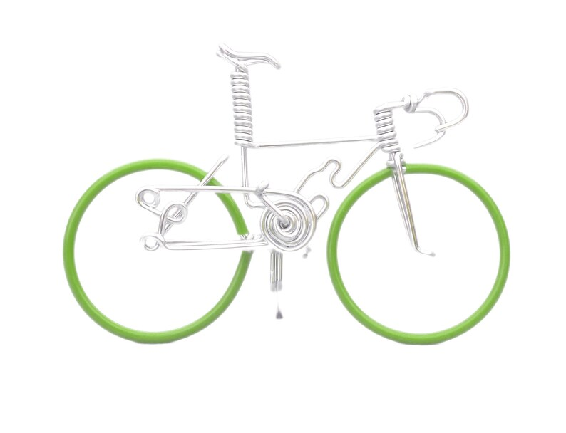 Miniature Road Bike Bicycles and Cycling Cake Topper image 0