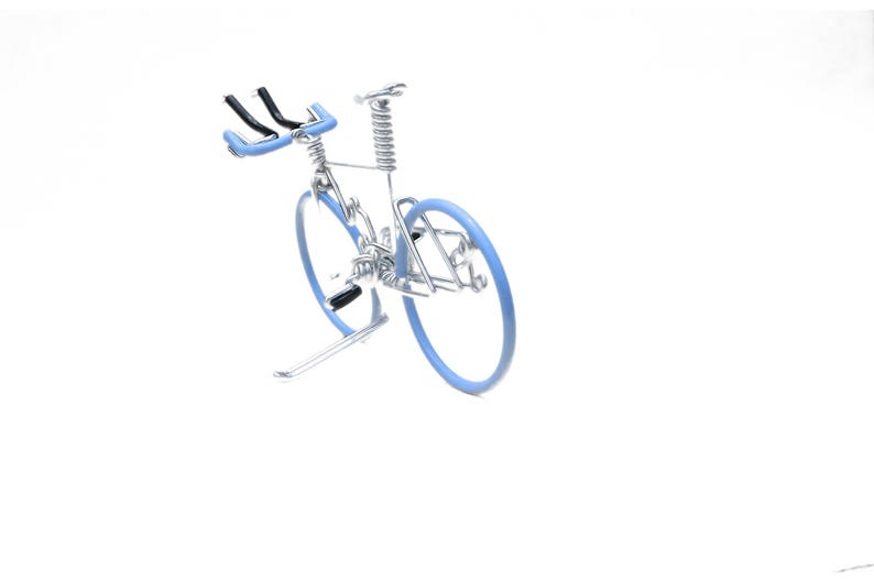 Bicycle Cake Topper Miniature Triathlon Bike Birthday Cake image 0