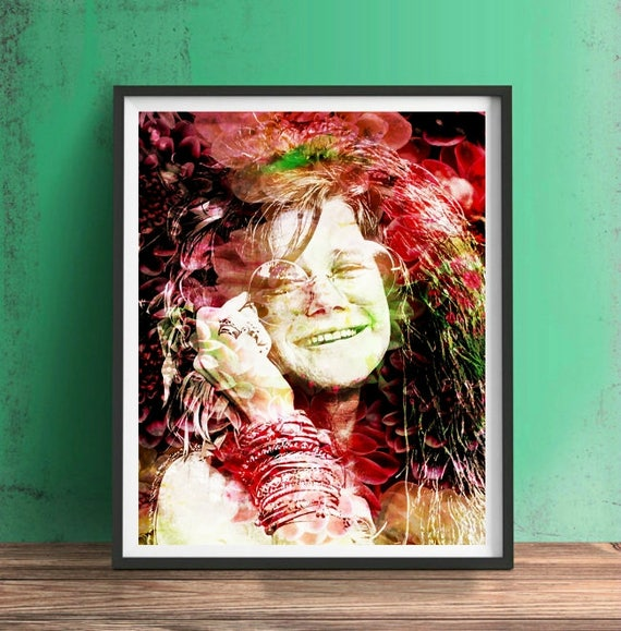 CANVAS Janis Joplin Print Art POSTER