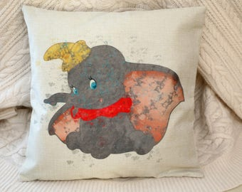dumbo the flying elephant disney inspired cushion cover 45 by 45 cm gift baby gift