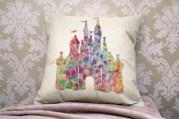 Throw Pillow Covers Cases Disney Castle