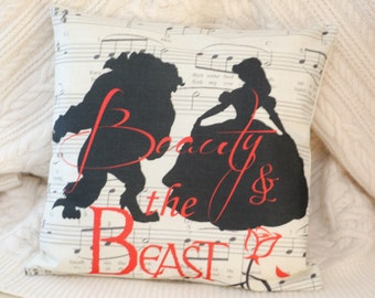 princess belle beauty and the beast music inspired cushion cover 45 by 45 cm beautiful gift